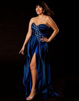 Mac Duggal Plus Size Blue Evening Dress 6330K image