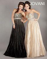 Jovani 634 Beaded Empire Evening Dress image