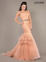 Jovani 64351 Tulle Mermaid Formal Dress image