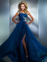 MacDuggal 64403M One Shoulder Dress with Illusion image