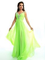 Size 4 Aqua MacDuggal Flash 64426L Jeweled Chiffon Evening Dress image