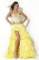 Party Time 6451 High Low Ruffle Party Dress image