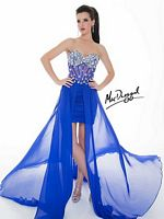 Mac Duggal Illusion Corset High Low Dress 64596N image