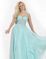 Party Time 6487 Wide Strap Evening Dress image