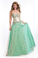 Party Time 6504 Drop Waist Chiffon Evening Dress image