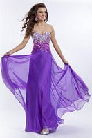 Party Time 6505 Encrusted Bodice Evening Dress image