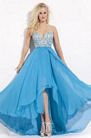 Party Time 6551 High Low Soft Tulle Party Dress image