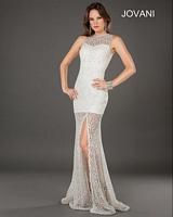 Jovani 6569 Sheer Lace Formal Dress image