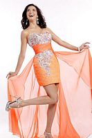 Party Time 6579 High Low Sequin party Dress image