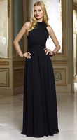 Mori Lee Bridesmaids 658 High Neck Long Chiffon Dresses image