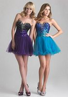 Night Moves by Allure Sassy Sequin Short Homecoming Dress 6615 image