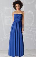 After Six Draped Bodice Lux Chiffon Long Bridesmaid Dress 6621 image