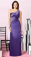 After Six One Shoulder Long Satin Bridesmaid Dress 6626 by Dessy image
