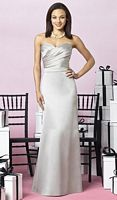 After Six Matte Satin Trumpet Skirt Bridesmaid Dress 6628 by Dessy image