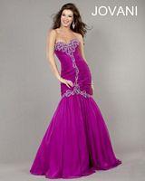 Jovani Taffeta Dress with Ruching 6628 image