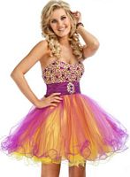 Party Time Beaded Bodice Short Homecoming Party Dress 6639 image