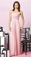 After Six Draped Bodice Long Bridesmaid Dress 6640 by Dessy image