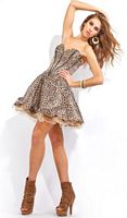 Party Time Leopard Print Short Party Dress for Homecoming 6647 image