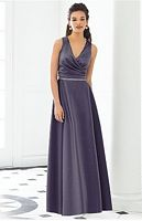 After Six 6648 Sleeveless V Neck Matte Satin Bridesmaid Gown 6648 image