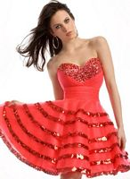 Party Time Short Party Dress with Sequin Bands 6650 image