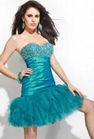 Party Time Beaded Short Mermaid Dress 6659 image