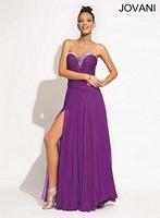 Jovani 6669 Ruched Chiffon Formal Dress image