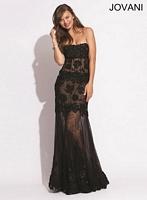 Jovani 6671 Lace and Tulle Mermaid Dress image