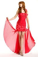 Party Time One Shoulder High Low Prom Dress 6672 image