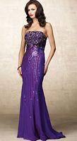 Alyce Designs Beaded Silk Chiffon Evening Dress 6687 image
