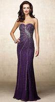 Alyce Designs Beaded Silk Chiffon Evening Dress 6689 image
