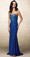 Alyce Designs Beaded Sequin Silk Chiffon Evening Dress 6691 image