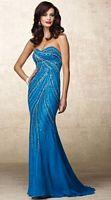 Alyce Designs Beaded Silk Chiffon Mermaid Evening Dress 6692 image