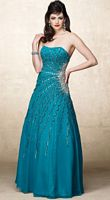 Alyce Designs Asymmetrically Beaded Chiffon Evening Dress 6693 image