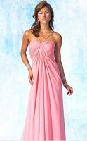 Alyce Designs Chiffon Evening Dress with V Beaded Straps 6695 image