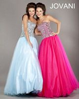 Jovani Strapless Corset Ball Gown 6696 image