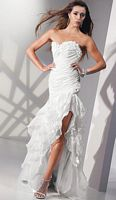 Alyce Paris Shimmer Organza Ruffle Mermaid Prom Dress 6698 image