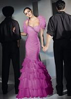 Alyce Paris Ruffle Mermaid Prom Dress 6702 by Alyce Designs image
