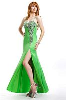 Size 2 Watermelon Party Time Chiffon Evening Dress 6704 image