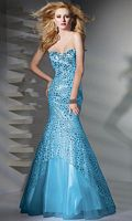Alyce Paris Sequin Lace-Up Mermaid Prom Dress 6707 image