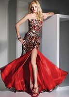 2012 Prom Dresses Alyce Paris Animal Print Prom Dress 6744 image