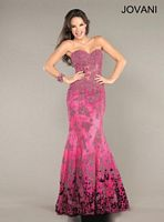 Jovani Sweetheart Mermaid Gown 6796 with Beading image