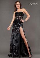 Jovani 6811 Sheer Waist Evening Dress image