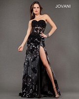 Jovani 6811 Lace Formal Dress with Floral Print image