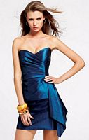Faviana Cocktail Dress with Asymmetrical Peplum 6814 image