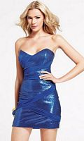 Royal Blue Faviana Trendy Sequin Cocktail Dress 6816 image