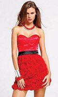 Faviana Short Cocktail Dress with Rosette Skirt 6821 image
