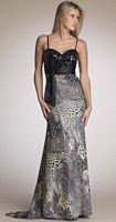 Dave and Johnny Mixed Animal Print Evening Dress 6868 image