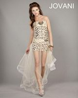 Jovani High Low Lace-Up Party Dress 6871 image