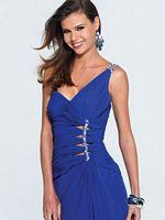 Faviana One Shoulder Chiffon Prom Dress with Cutouts 6902 image