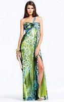 Faviana Green Jungle Print Prom Dress 6903 image